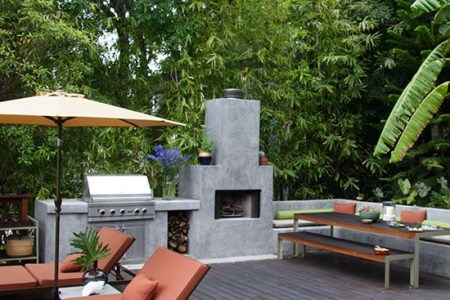 7 contemporary gardens 10 of the best outdoor kitchen homes gardens house to home