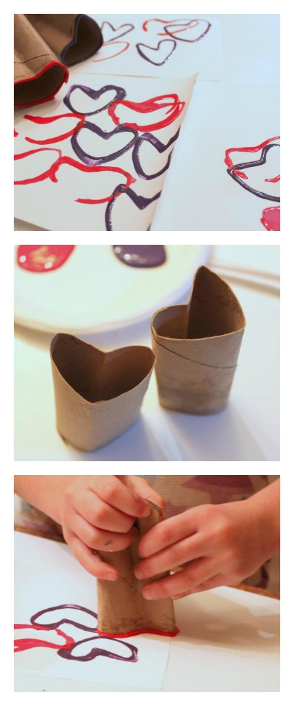 paper tube hearts