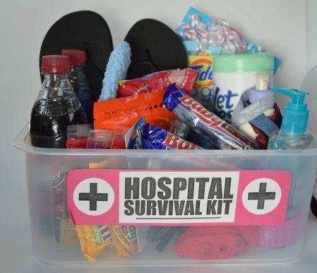 Baby shower gift, Hospital survival kit
