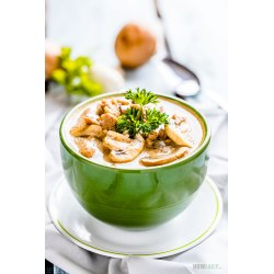 Small Crop Of Chicken And Mushroom Soup