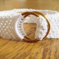 White Cotton Bracelet