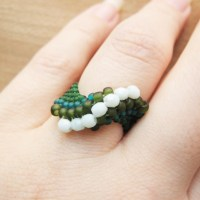 Beads and Crystals Ring