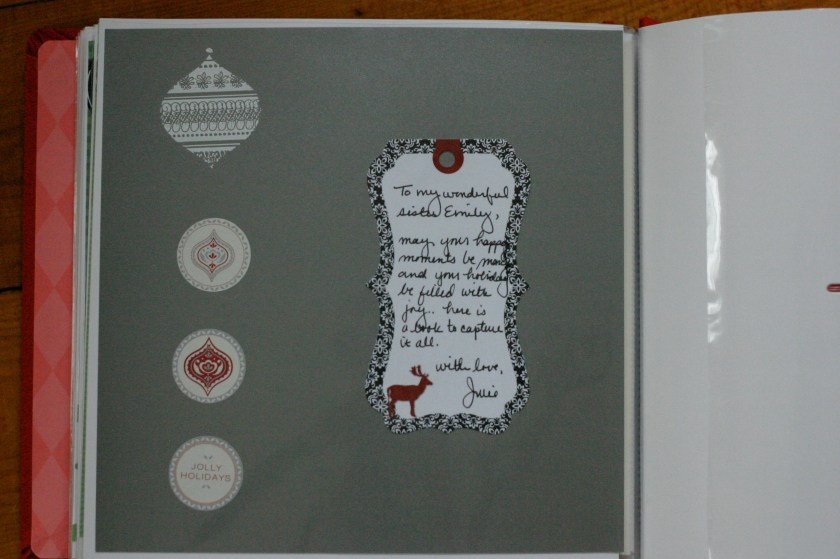 25 Days of Christmas (gift) - A note on the last page