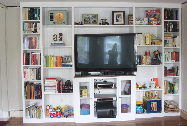 First floor living room: Built-in Bookcase