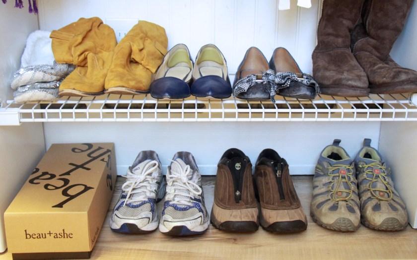 Minimize | The shoe closet: after