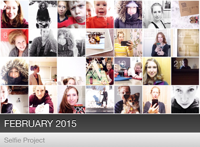 February Self Portrait Project in Collect Photo App | How I Sustain Blog