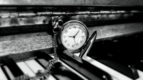 piano and pocket watch