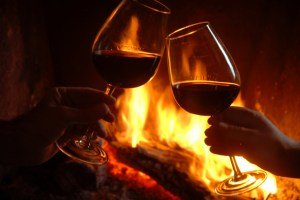 fireside-wine glasses