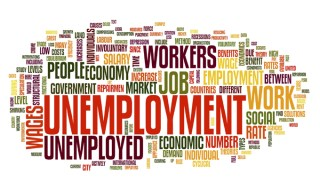 Unemployment concept in tag cloud