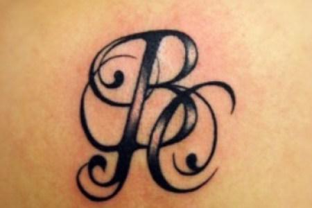 initials and names tattoo design