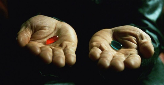 blue and red pill