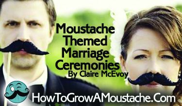Moustache Themed Marriage Ceremonies