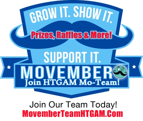 Join The HTGAM Movember Team – You Need Not Grow A Stache This Year!
