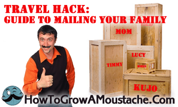 Travel Hack: Guide to Mailing Your Family (Infographic)