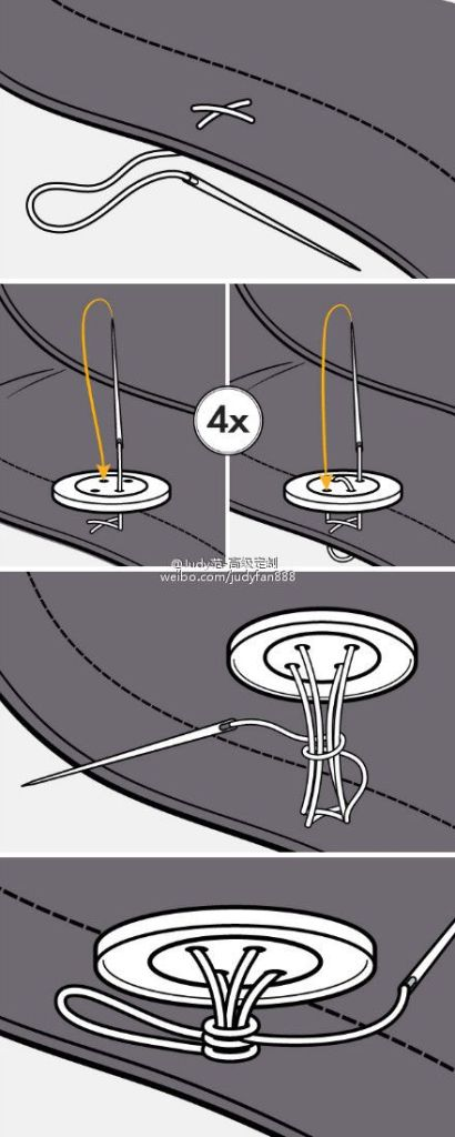 how to sew on button
