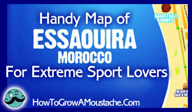 Handy Map of Essaouira For Extreme Sport Lovers