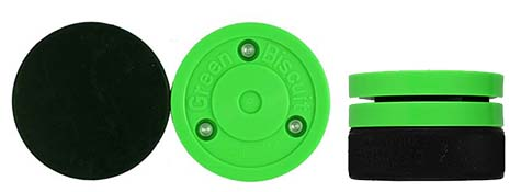 Green Biscuit and Hockey Puck