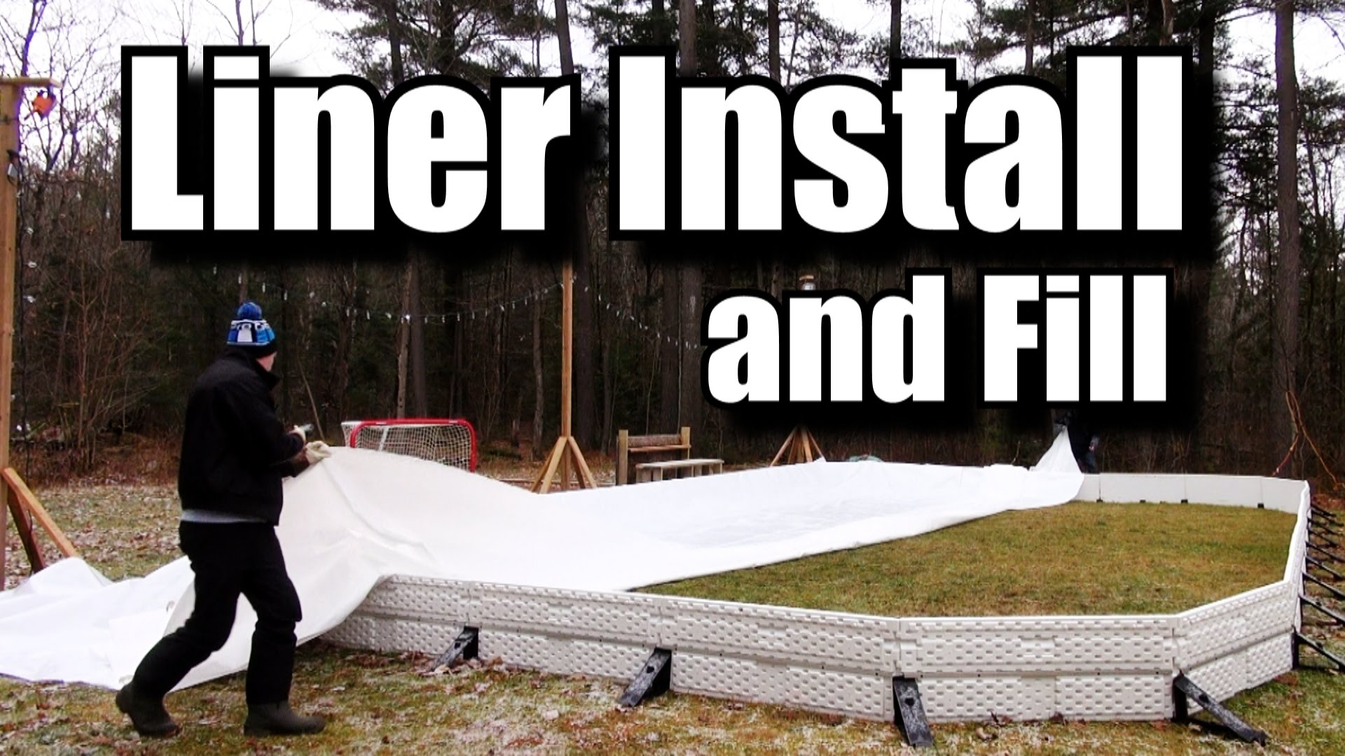 Backyard Rink Liner : How to Install a backyard rink Liner and Fill It