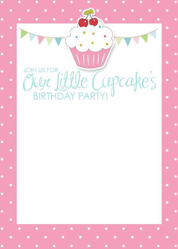 ... Birthday Invitations Girl. .Microsoft Birthday Card Template Word