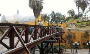 The Puente de los Suspiros in Barranco, Lima