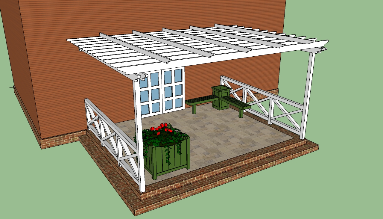 Old Pergola Attached To House Plans Attached Pergola Plans Howtoist How To Step By Pergola Attached To House Designs Pergola Attached To House Ideas houzz-03 Pergola Attached To House