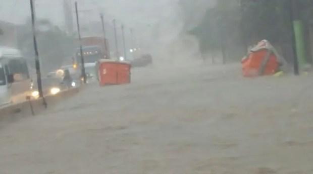 Munícipes de Puerto Plata han reportado inundaciones de calles y avenidas/Foto: Fuente externa.