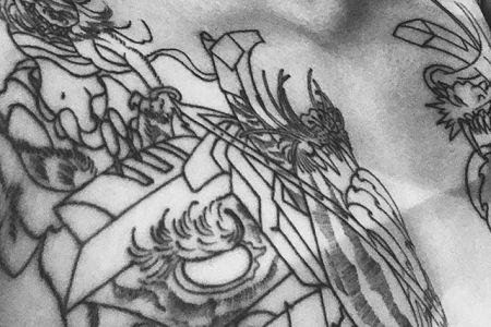 刺青師勝美氏と意見が一致したThe tatoo is fantasy.#tattoo #japantattoo  #traditionaltattoo  #札幌刺青 #SAPPORO  #刺青師勝美