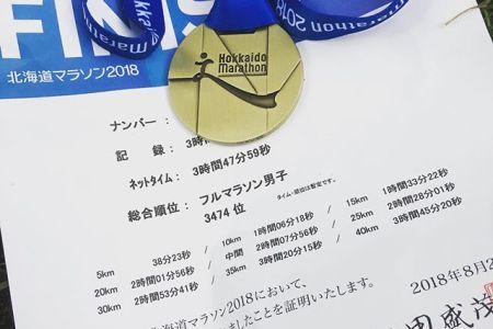 #刺青入ってても4時間切れちゃうんです#北海道マラソン #刺青 #tattoo #完走 #フルマラソン