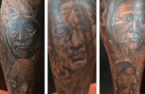 Santana Moss Gets Beautiful Native American Tattoos on his Legs