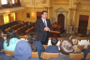 Explore 2000 Middle School Students Tour State House, Meet with Assembly Speaker Prieto