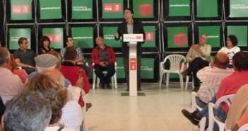 Acto del PSOE en Cumbres Mayores.