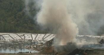 Último incendio en el vertedero de Nerva.