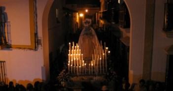 Virgen del Rosario en Moguer.