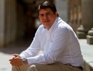 Marcos Toti, candidato de IU en Zalamea la Real.