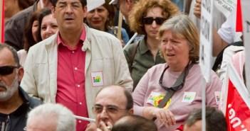 Diego Valderas, en la manifestación del 1 de Mayo. (Julián Pérez)