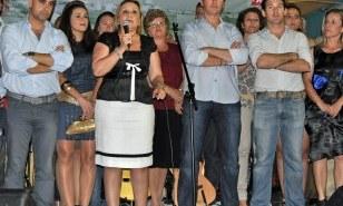 María Luisa Faneca en el acto del PSOE.