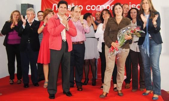 Acto del PSOE en Villalba del Alcor.