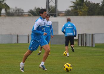 Manu Micó en un entrenamiento.