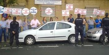 Protesta de recolocables de Astilleros.