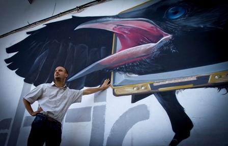 Graffiti en Huelva. (Julián Pérez)