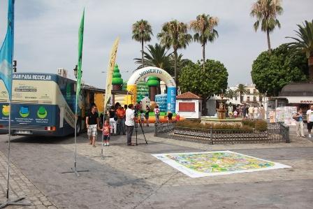 Bus del Reciclaje en Ayamonte.