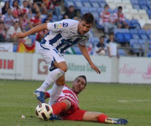 Álex Quillo, futbolista del Recreativo de Huelva. (J. Pérez)