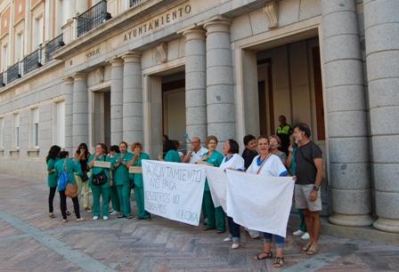 Protesta de los trabajadores de Volconsa.
