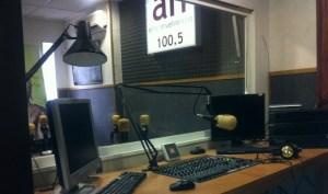 Nuevos estudios de Antena Huelva Radio.