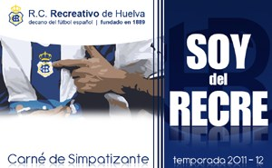 Carnet simpatizante del Recreativo.