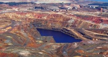 Vista aérea de la mina de Riotinto, concretamente de la zona de Cerro Colorado. (Rodolfo Barón)