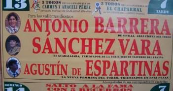 Cartel de la feria taurina de Valverde del Camino.