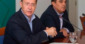 Díaz Trillo en la rueda de prensa de este sábado en Huelva. (Julián Pérez)