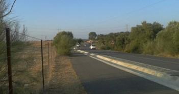 Tramo de la carretera HU donde se ha producido el segundo accidente mortal en Niebla.