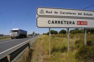El desdoble de la N-435, una de las grandes asignaturas pendientes del PSOE.